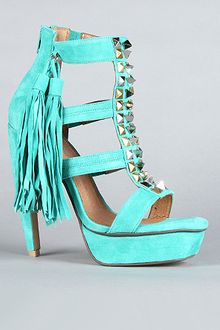 Jeffrey Campbell The Strung Shoe in Green Suede - Lyst