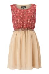 Madam Rage Madam Rage Vintage Bow Belt Dress - Lyst