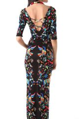 Mara Hoffman Crisscross Maxi Dress in Black - Lyst