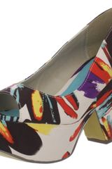 Michael Antonio Michael Antonio Womens Alura Wedge Sandal in Multicolor (brown floral print) - Lyst