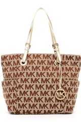 Michael by Michael Kors Jet Set Signature Tote - Lyst