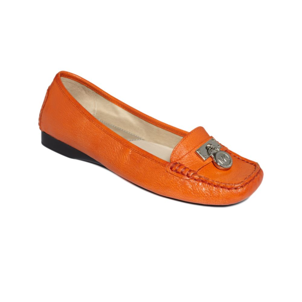 7da9598e46c Lyst - Michael Kors Hamilton Loafer Flats in Orange