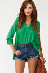 Nasty Gal Hang Loose Shirt in Green - Lyst