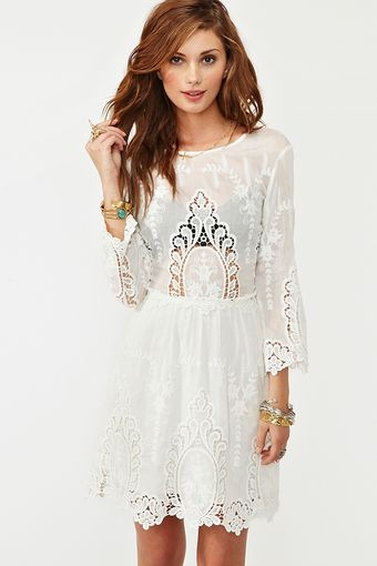 Nasty Gal Valentina Crochet Dress - Lyst