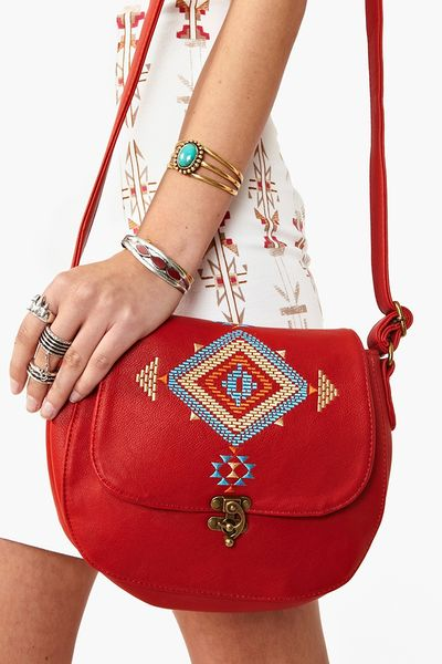 Nasty Gal Inca Crossbody Bag in Brown (red) - Lyst