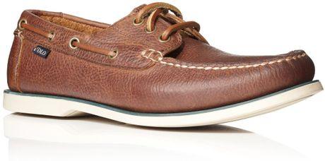 Polo Ralph Lauren Bienne Boat Shoe Laceups in Brown for Men