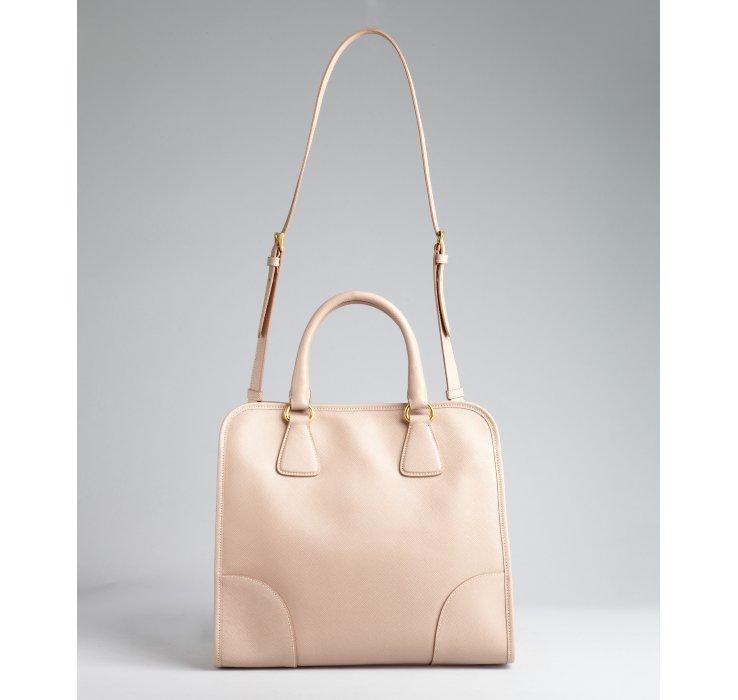 Prada Light Mauve Saffiano Leather Top Handle Doctor Bag in Purple ... - prada galleria bag marble gray + white + baltic blue