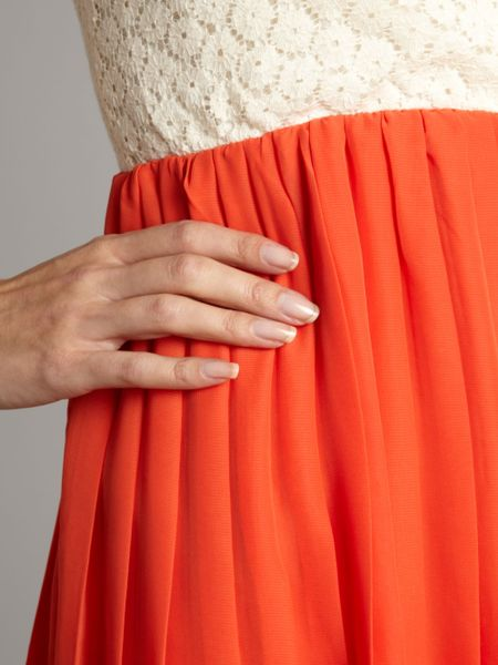Pussycat Crochet Dress In Orange Cream Lyst