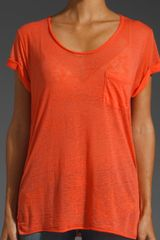 Rag & Bone The Pocket Tee in Orange - Lyst