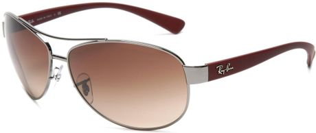 Ray-ban Rayban Mens Aviator Sunglasses in Brown for Men (red frame/brown gradient lens) - Lyst
