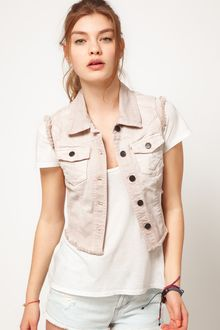 River Island River Island Light Denim Sleeveless Jacket - Lyst