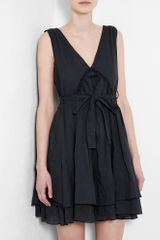 See By Chloé Dark Grey Dress in Black (grey) - Lyst