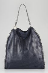 Stella McCartney Faux Perforated Falabella Tote - Lyst