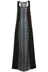 Topshop Kaleidescope Panel Maxi Dress - Lyst
