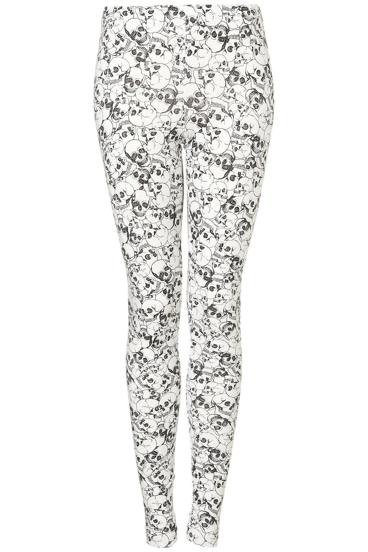 b10511558 TOPSHOP Skull Print Leggings in White - Lyst