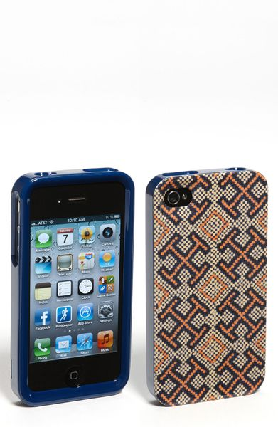 Tory Burch Iphone 4 4s Case in Brown (navy multi) - Lyst