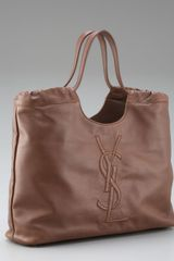 Yves Saint Laurent Belle Du Jour Leather Tote - Lyst