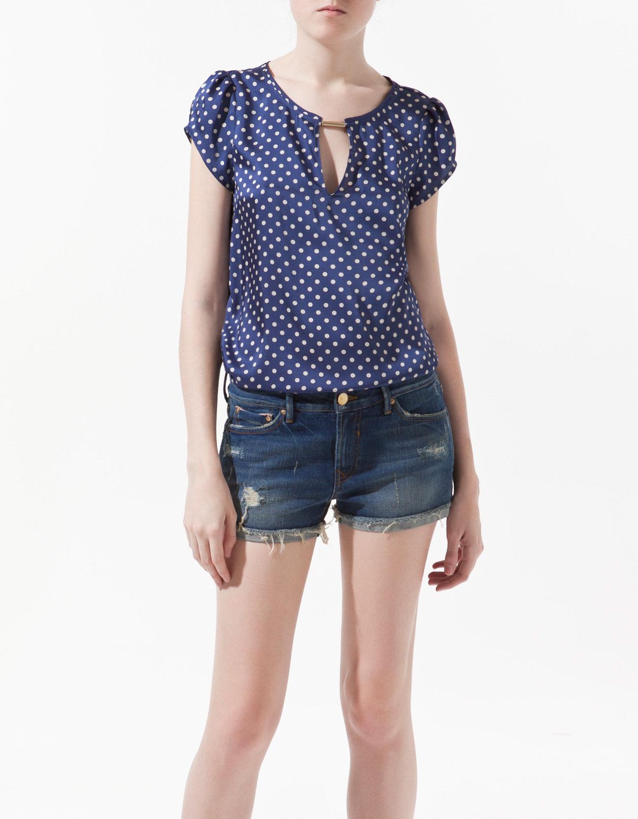 Zara Printed Chiffon Blouse 60