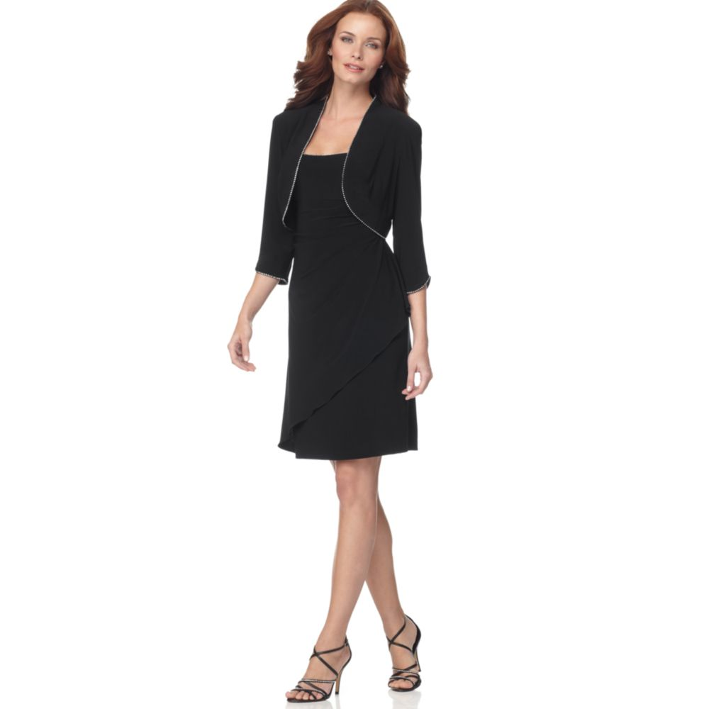 Black Cocktail Dresses With Jackets - Long Dresses Online