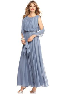 Alex Evenings Sleeveless Beaded Blouson Evening Gown - Lyst