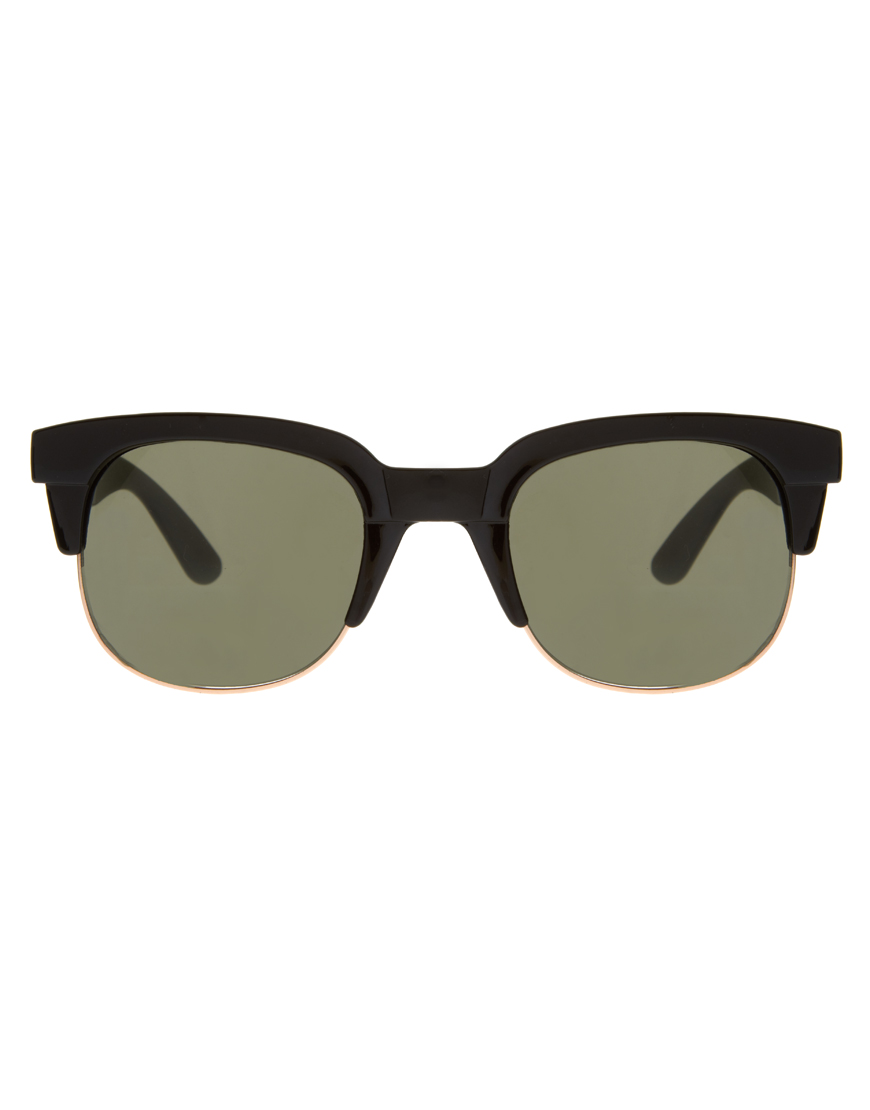 large clubmaster sunglasses  Asos Large Clubmaster Sunglasses in Black for Men