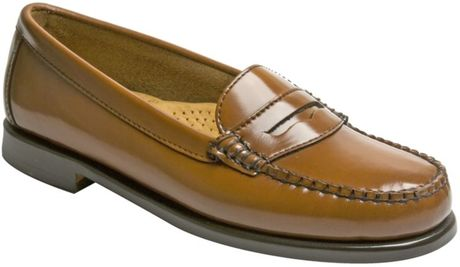 Bass Wayfarer Moc Flats in Brown (karikole) - Lyst
