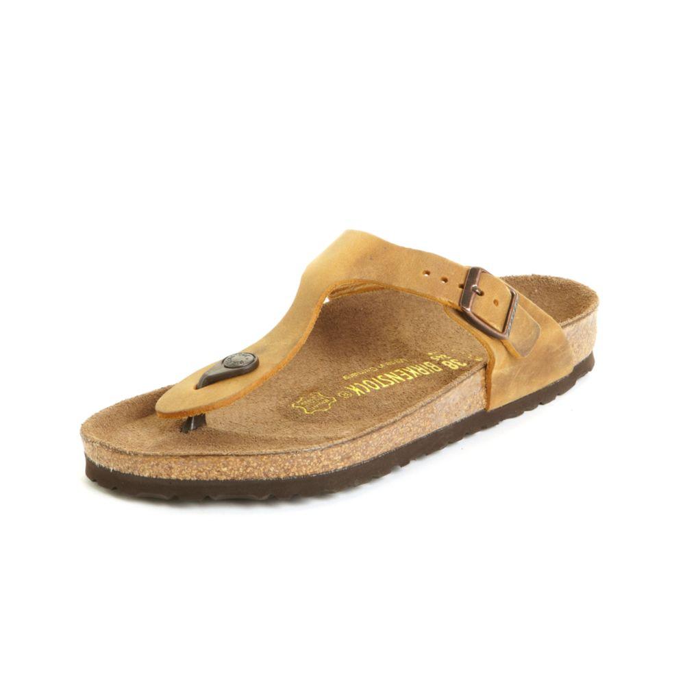 birkenstock gizeh sandals in brown aspen gold oiled lyst. Black Bedroom Furniture Sets. Home Design Ideas