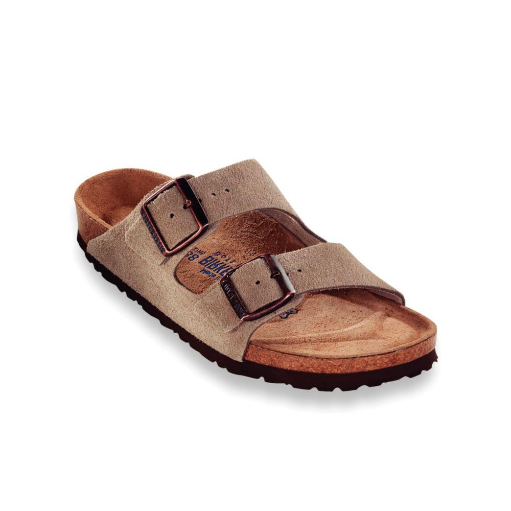 birkenstock arizona soft footbed two band suede sandals in. Black Bedroom Furniture Sets. Home Design Ideas