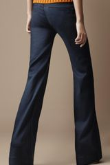 Burberry Borough Flared Jeans in Blue (dark oxford blue) - Lyst