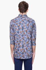 Comme Des Garçons 34 Sleeve Poplin Shirt in Blue for Men - Lyst