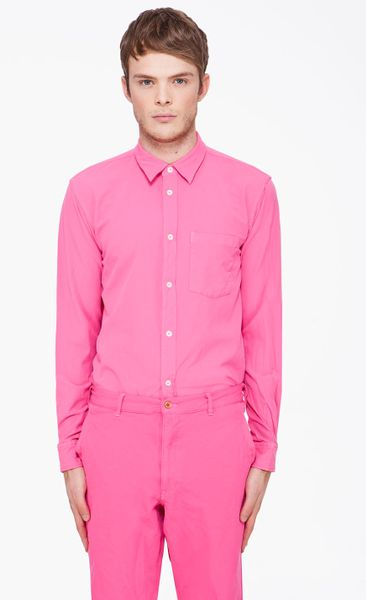 Comme Des Garçons Pink Ester Broad Shirt in Pink for Men - Lyst