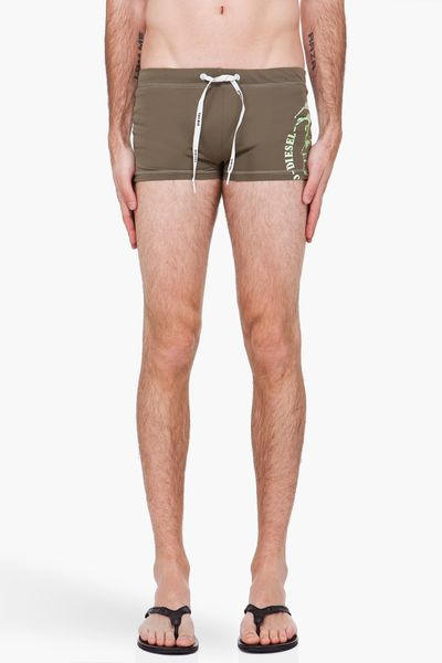 Diesel Olive Aloha Swim Shorts in Green for Men (olive) - Lyst