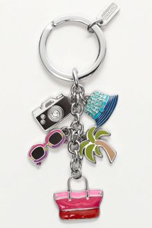 Eci Coach Hamptons Weekend Multi Mix Key Ring - Lyst