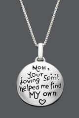 Eci Sterling Silver Mom Pendant in Silver - Lyst