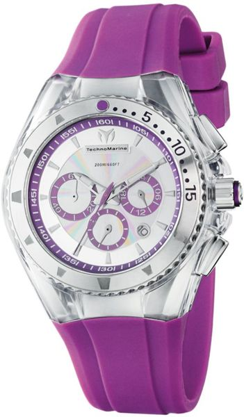 Eci Chronograph Cruise Original Lipstick Violet Silicone Strap Watch in Purple (violet) - Lyst