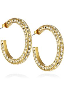 J.Crew Dottie Crystal Hoop Earrings - Lyst