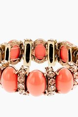 J.Crew Cabochon and Crystal Stretch Bracelet