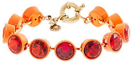 J.crew Small Crystal Brulée Bracelet in Red (vibrant flame) - Lyst