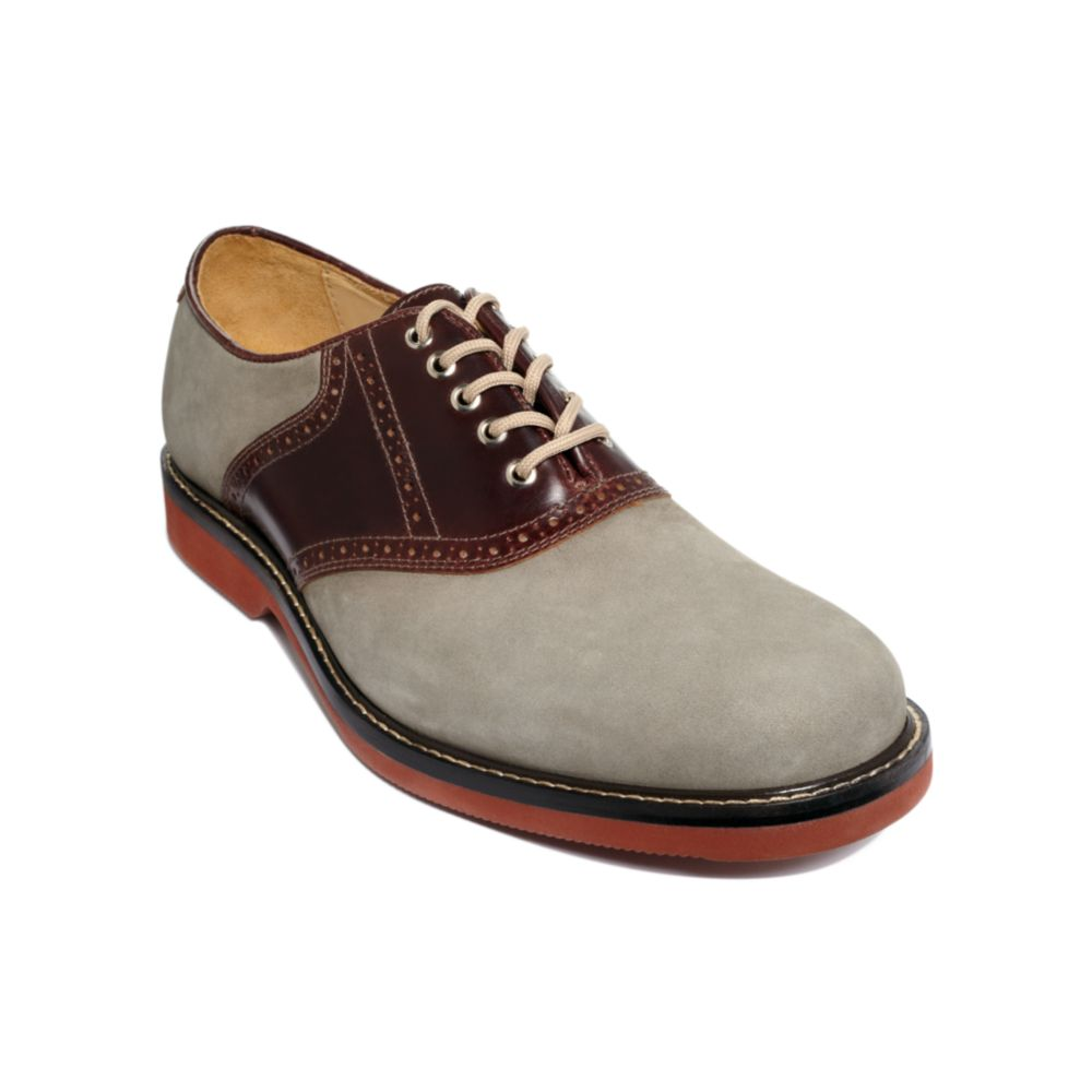 johnston murphy brennan oxford saddle shoes in brown for