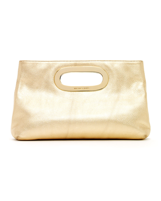 Lyst - Michael Kors Berkley Clutch Pale Gold in Metallic 9d68375e7e4d9