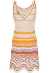 Missoni Canasta Dress in Multicolor (orange) - Lyst