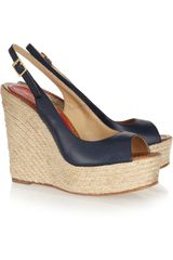Paloma Barceló Leather Espadrille Wedge Sandals - Lyst