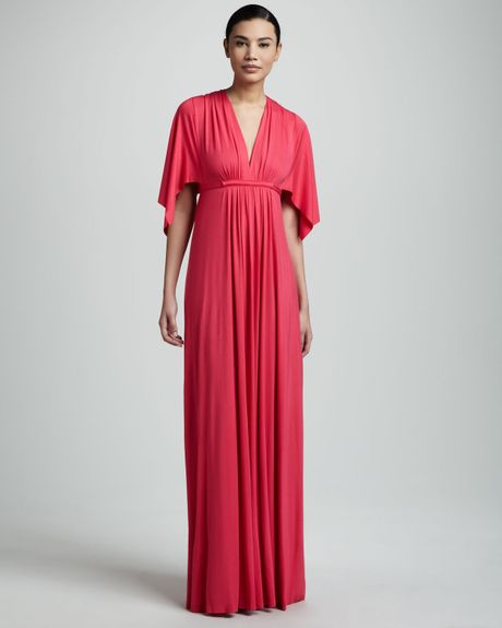 Rachel Pally Vneck Maxi Dress in Pink (geranium (pink)) - Lyst