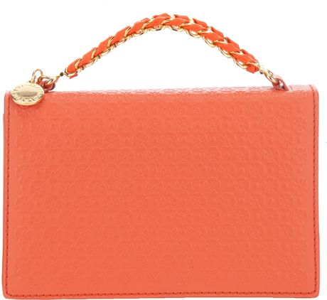Stella Mccartney Handle Clutch in Orange - Lyst