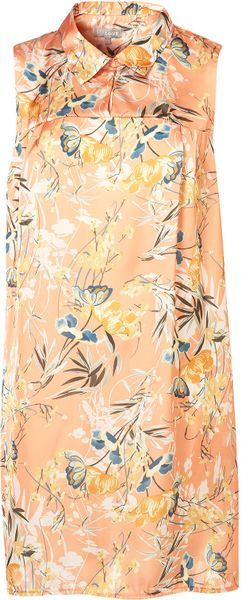 Topshop Loose Fit Shirt By Love in Pink (peach) - Lyst