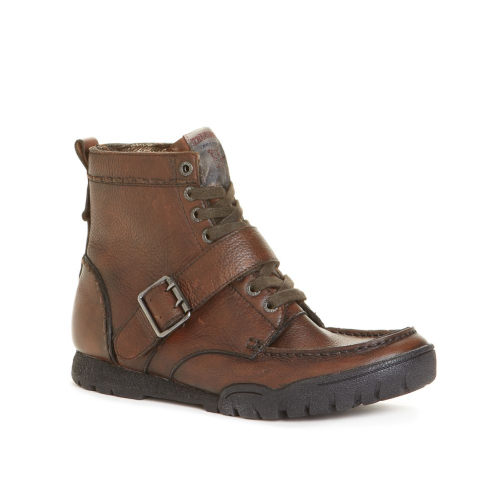 true religion ricky leather boots in brown for