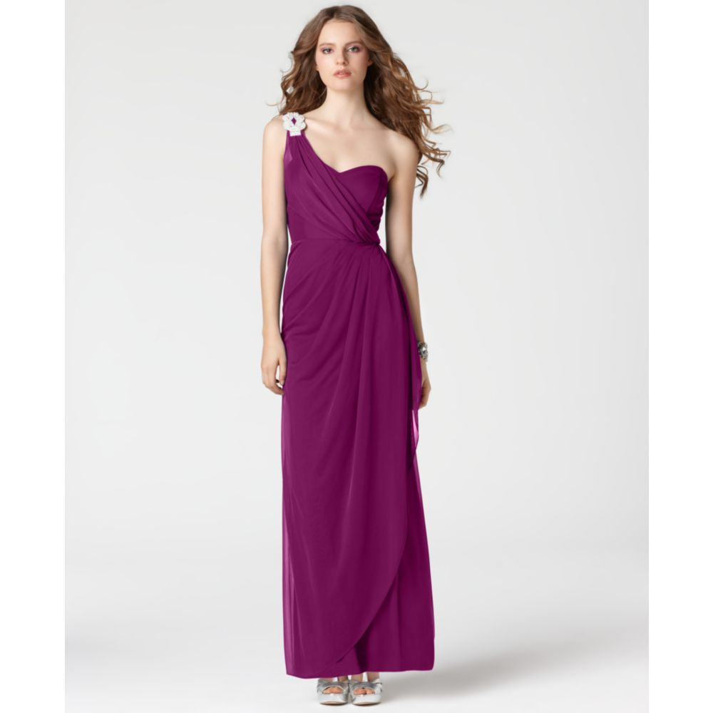 Xscape Dresses Long Purple