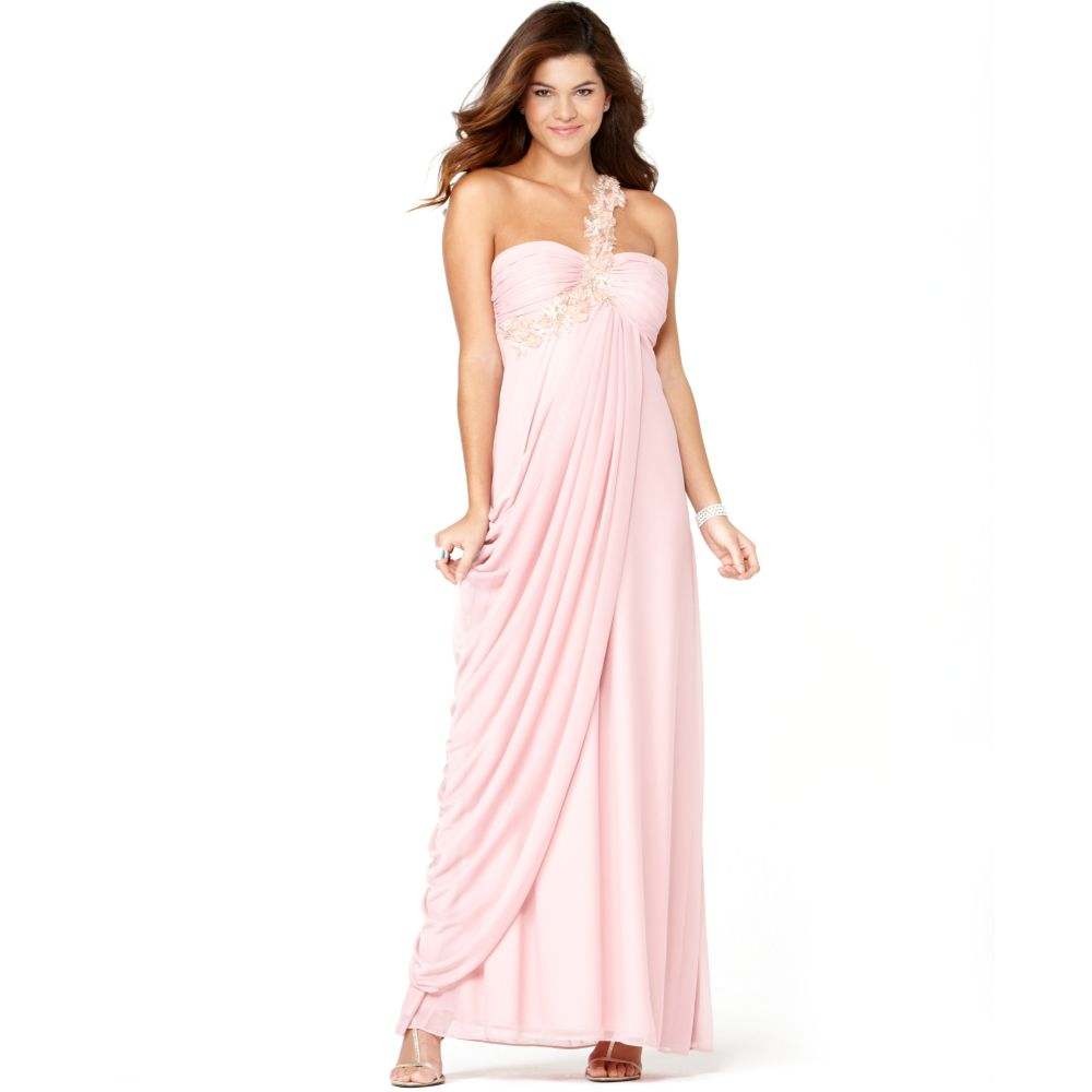 Xscape Strapless Beaded Gown