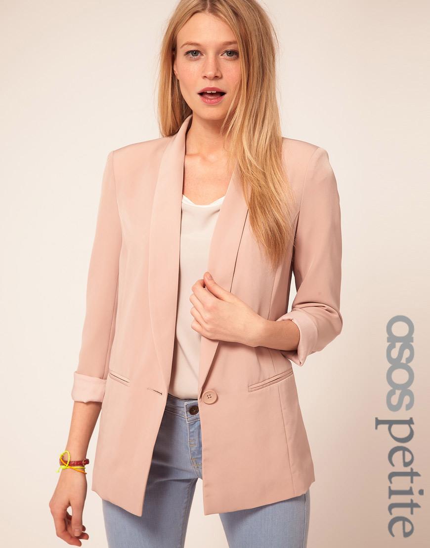Asos Asos Petite Exclusive Slouchy Boyfriend Blazer in Pink | Lyst
