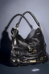 Burberry Leather Hobo, Medium - Lyst